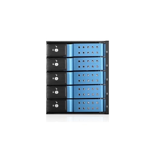 "iStarUSA BPN-DE350SS-BLUE  Trayless 3x 5.25"" to 5x 3.5"" SAS SATA 6 Gbps HDD Hot-swap Rack"