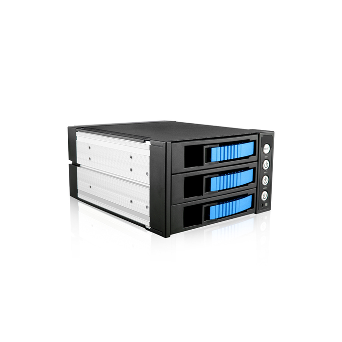 "iStarUSA BPU-230SATA-BLUE  2x 5.25"" to 3x 3.5"" 2.5"" SAS SATA 6 Gbps HDD SSD Hot-swap Rack"