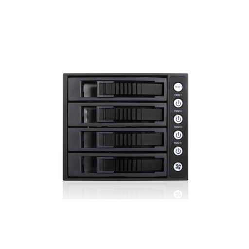 "iStarUSA BPU-340SATA-BLACK  3x 5.25"" to 4x 3.5"" 2.5"" SAS SATA 6 Gbps HDD SSD Hot-swap Rack"