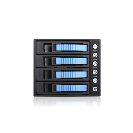 "iStarUSA BPU-340SATA-BLUE  3x 5.25"" to 4x 3.5"" 2.5"" SAS SATA 6 Gbps HDD SSD Hot-swap Rack"