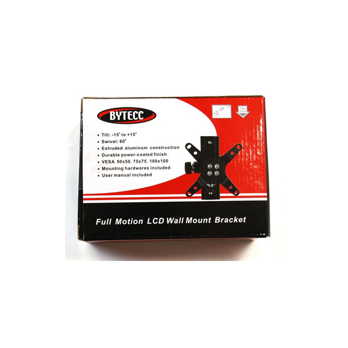 "Bytecc BT-1330AT Full Motion 13"" to 30"" All Aluminum LCD/PLASMA Wall Mount"