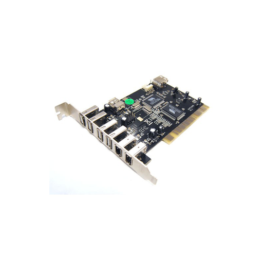 Bytecc BT-PCI-U2FW 4 Ext. + 1 Int. USB 2.0 Ports + 2 Ext. + 1 Int. Firewire 400/1394A Ports PCI Card
