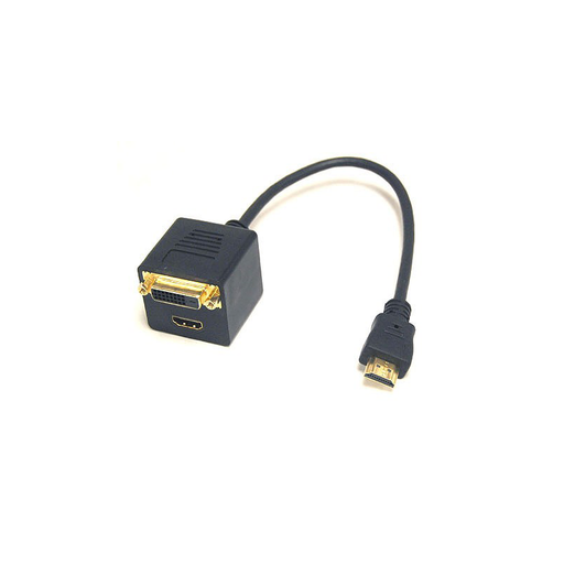 Bytecc BTA-030 HDMI Female and DVI-D(Dual link) Female with Nuts to HDMI* Male Adapter