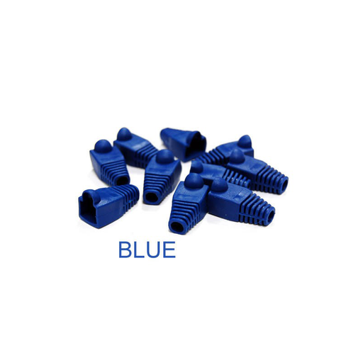 Bytecc C6BOOT-B Blue Colored Snagless Boots for RJ45 (50pcs Bag)