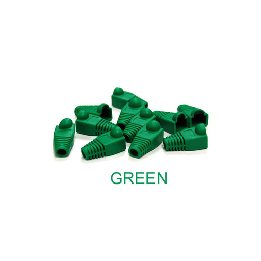 Bytecc C6BOOT-G Green Colored Snagless Boots for RJ45 (50pcs Bag)
