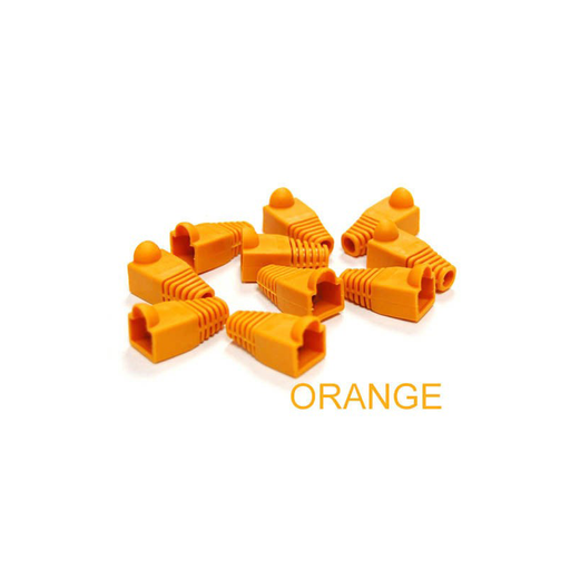 Bytecc C6BOOT-O  Orange Colored Snagless Boots for RJ45 (50pcs Bag)