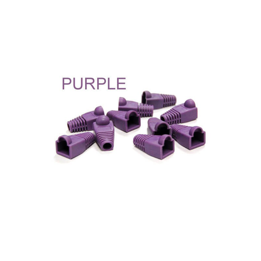 Bytecc C6BOOT-P  Purple Colored Snagless Boots for RJ45 (50pcs Bag)
