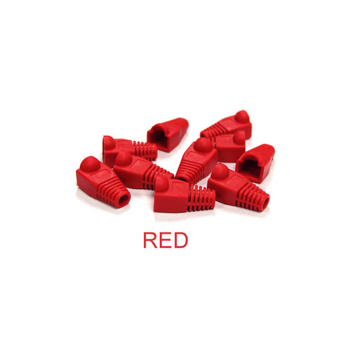 Bytecc C6BOOT-R  Red Colored Snagless Boots for RJ45 (50pcs Bag)