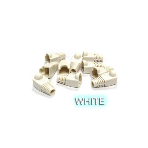 Bytecc C6BOOT-W  White Colored Snagless Boots for RJ45 (50pcs Bag)