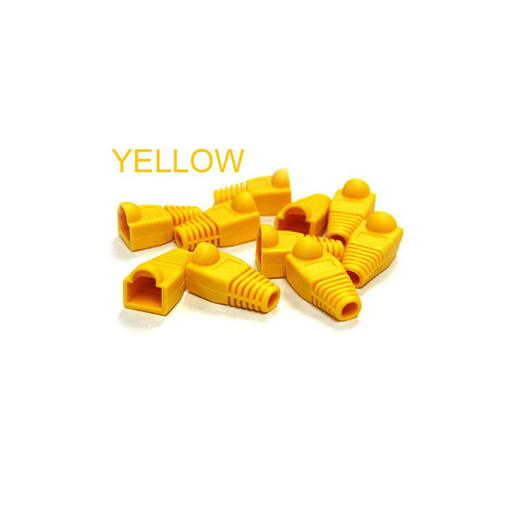 Bytecc C6BOOT-Y  Yellow Colored Snagless Boots for RJ45 (50pcs Bag)
