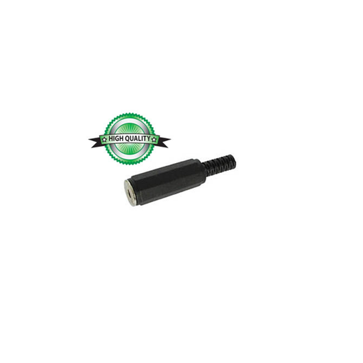 Velleman CA010: 1/8 in. Stereo Jack with Strain Relief - Black