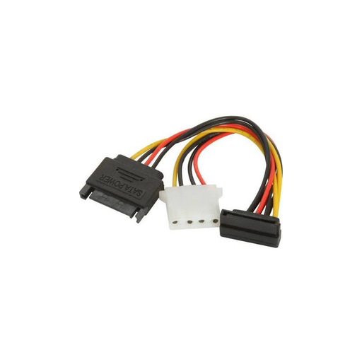 Athena Power CABLE-S15S15M4 SATA 15pin Converts to SATA 15pin + Molex 4pin