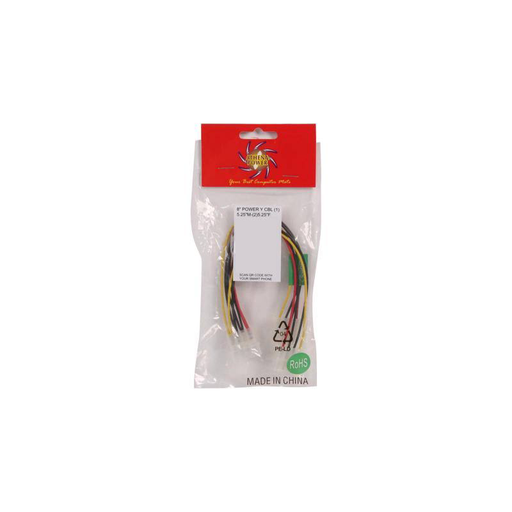 "Athena Power CABLE-YPHD 8"" Molex 4pin Y-Splitter"