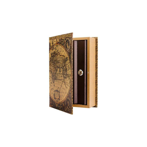 Barska CB12480 Antique Map Book Lock Box