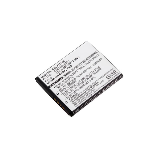 Dantona CEL-OT880 Lithium (ICR/CGR/LIR) 3.7 Volts Cell Phone Battery
