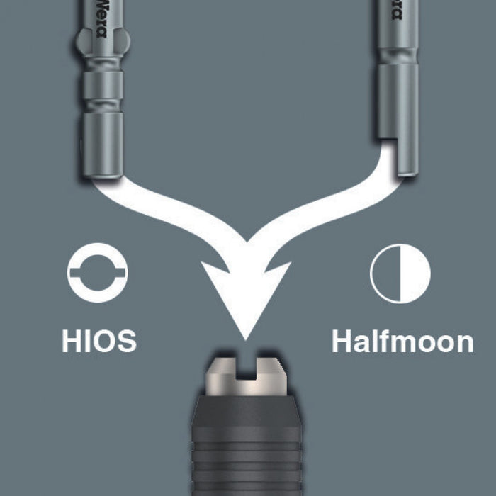 Wera 05051502001 Combination 4mm Halfmoon + 4mm HIOS Bitholder - 4mm HIOS Drive