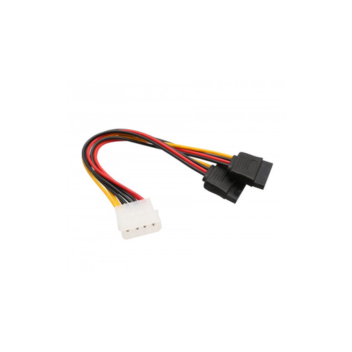 Syba CL-CAB40021 4 Pin Molex Male to Two 15 Pin SATA Power Cable