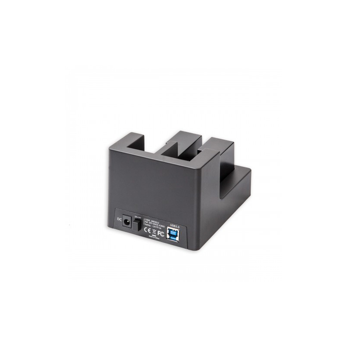 "Syba CL-ENC50060 USB 3.0 Dual Slot 3.5"" and 2.5"" SATA III HD Docking Station with Duplication Support"