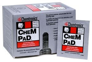 Chemtronics CP400 Chempad, 50 Wipes