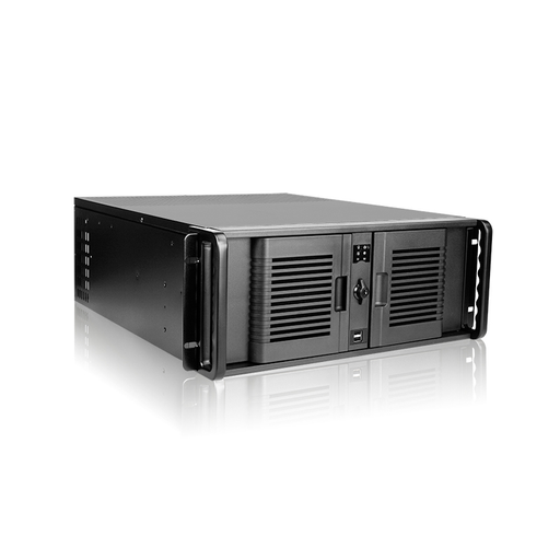 iStarUSA D-407P-100R3N 4U Compact Stylish Rackmount Chassis with 1000W Redundant Power Supply