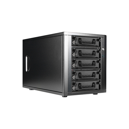 iStarUSA DAGE540TG5-PM 5-bay SATA 6.0 Gb/s eSATA-Port Multiplier Hotswap JBOD Enclosure 250W PSU