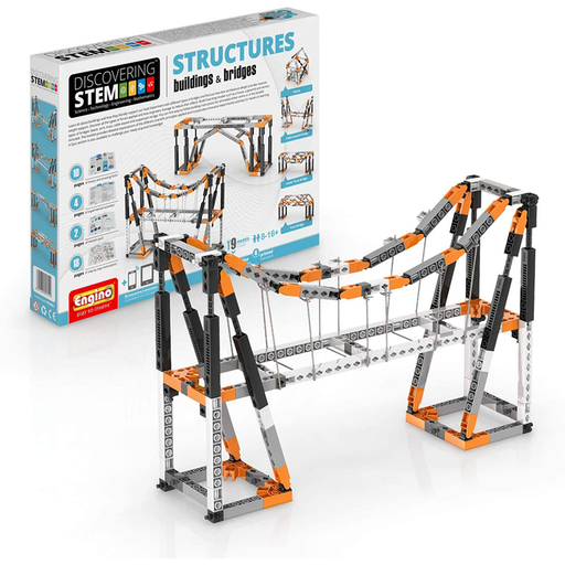 Elenco ENGSTEM-06 Engino STEM Structures: Building & Bridges Set