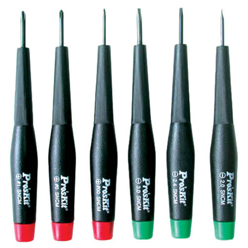 Eclipse 800-149 Slotted / Phillips Precision Screwdriver Set, 6 Piece