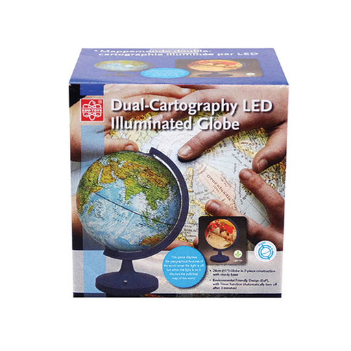"Elenco EDU-2837 11"" Dual Cartograph Illuminated Globe"