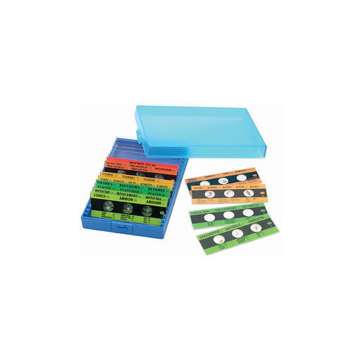 Elenco EDU-36730 12 pcs Prepared Micro-Slides and 6 Blank Slides