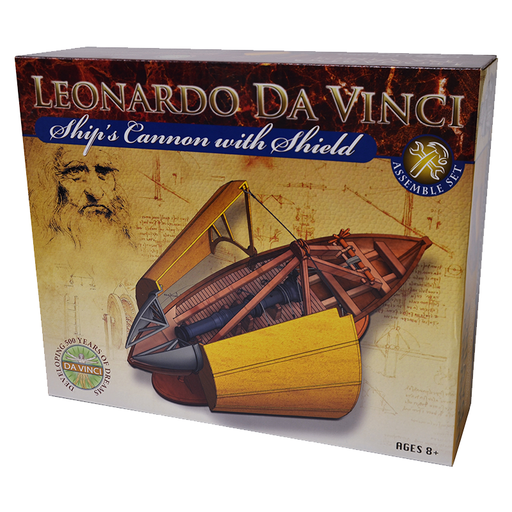 Elenco EDU-61023 Leonardo Da Vinci Ship Cannon With Shield Kit
