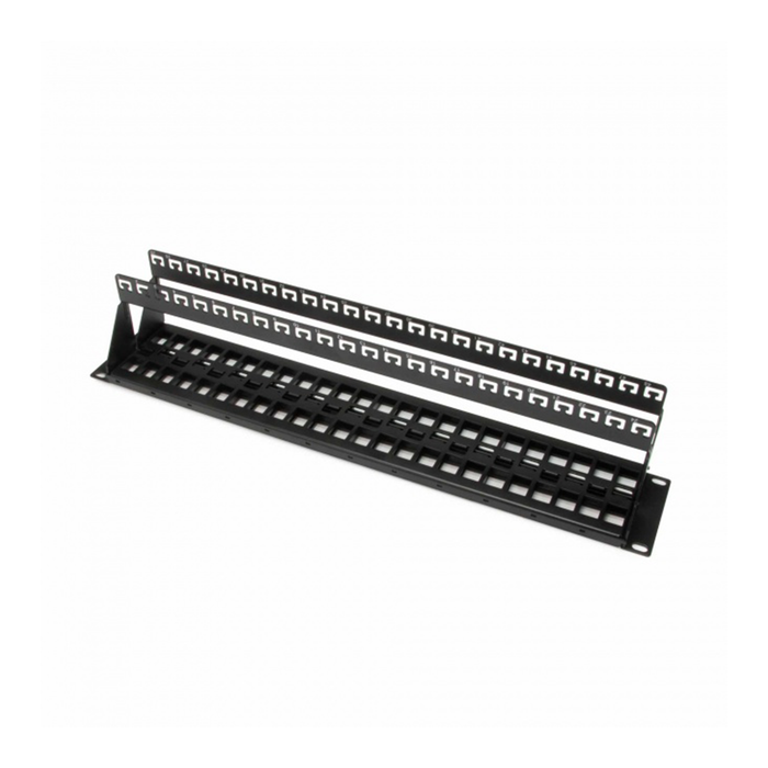 Platinum Tools 644-48SU Unloaded Patch Panel, 48 Port, Shielded