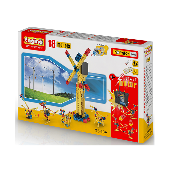 Engino ENG-1820 18 Model Construction Set with Motor Construction Kit