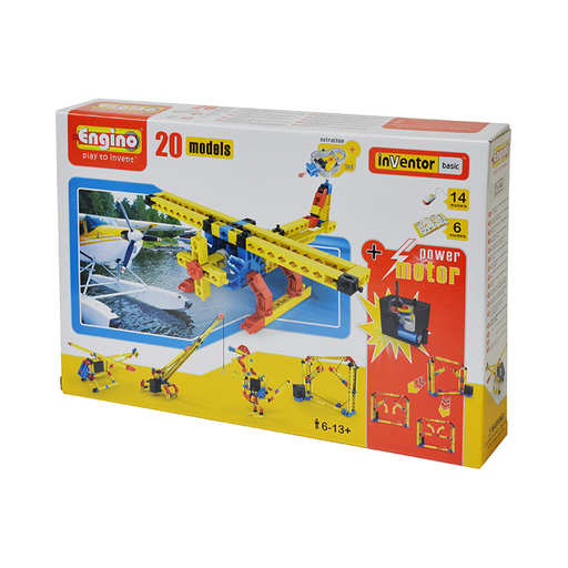 Engino ENG-2020 20 Model Construction Set with Motor Construction K