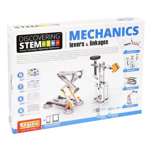Elenco ENGSTEM-01 Enigino STEM Mechanics: Lever & Linkage Kit