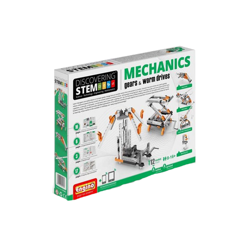Elenco ENGSTEM-05 Engino STEM Mechanics: Gears & Worm Drives Set