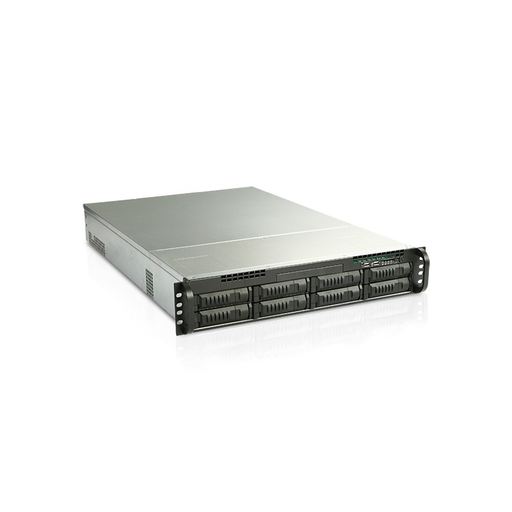 iStarUSA EX2M8-80S2UP8 2U 8-Bay Storage Server Rackmount Chassis with 800W Redundant Power Supply