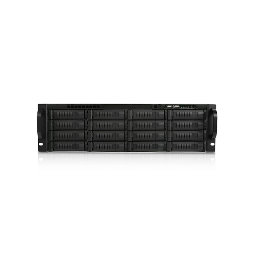 iStarUSA EX3M16-750PD8G 3U 16-Bay Storage Server Rackmount Chassis with 750W Redundant Power Supply