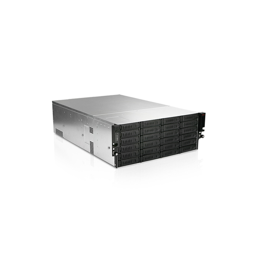 iStarUSA EX4M24-80S2UP8 4U 24-Bay Storage Server Rackmount Chassis with 800W Redundant Power Supply