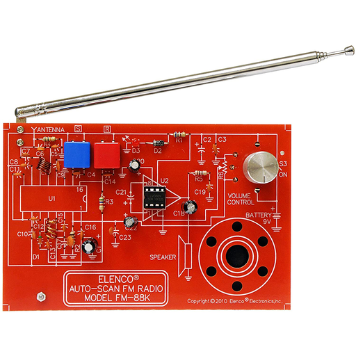 Elenco FM-88K AutoScan Fm Radio Kit