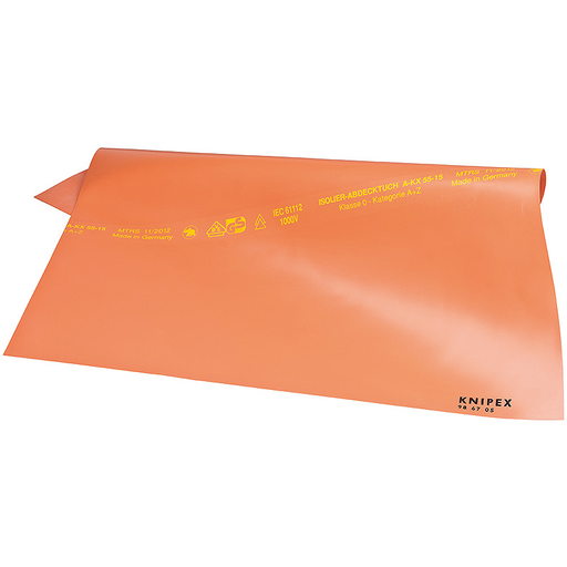 Knipex 98 67 05 Rubber Insulating Mat, 500 x 500 mm