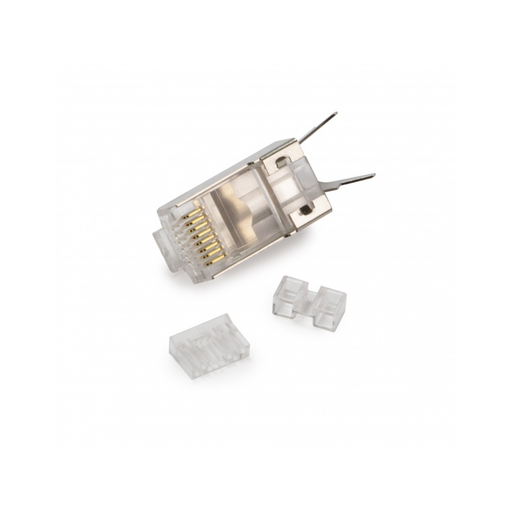 Platinum Tools 106241 Cat6A/7 STP Solid/Stranded RJ45 Connector - Pack of 25