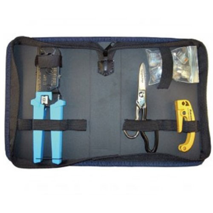 Platinum Tools 90136 EZ-RJ45 Termination Kit, w/Zip Case. Box.
