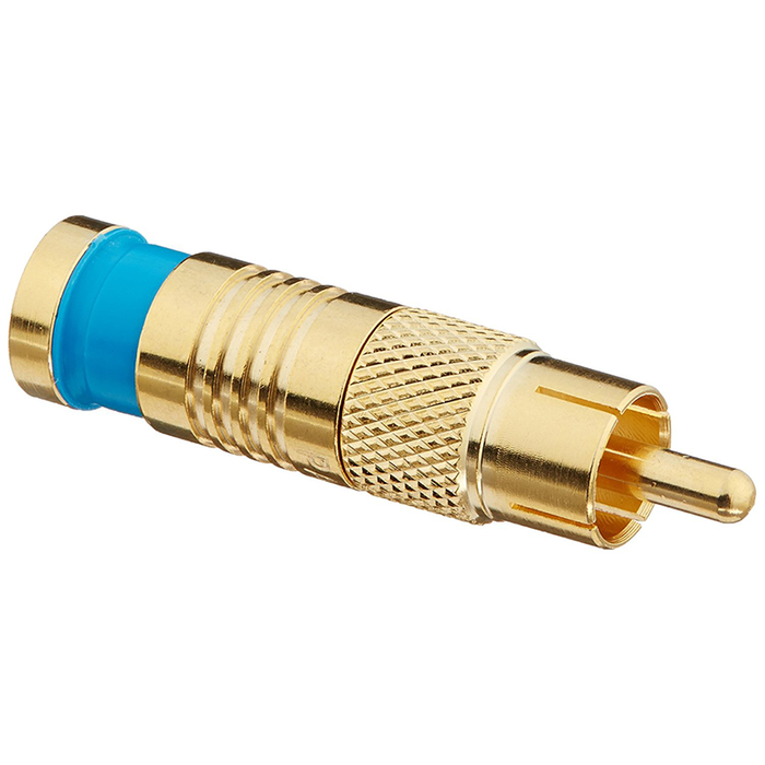 Platinum Tools 18057 RCA RG6Q Compression, Gold Plated, 25-Pack