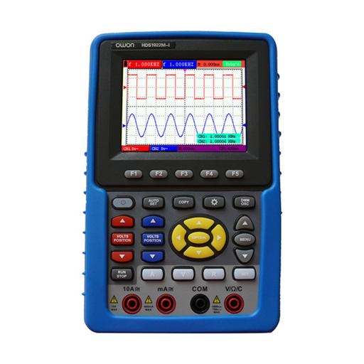 Owon HDS1022M-I Handheld Digital Storage Oscilloscope & Multimeter with Channel Isolation