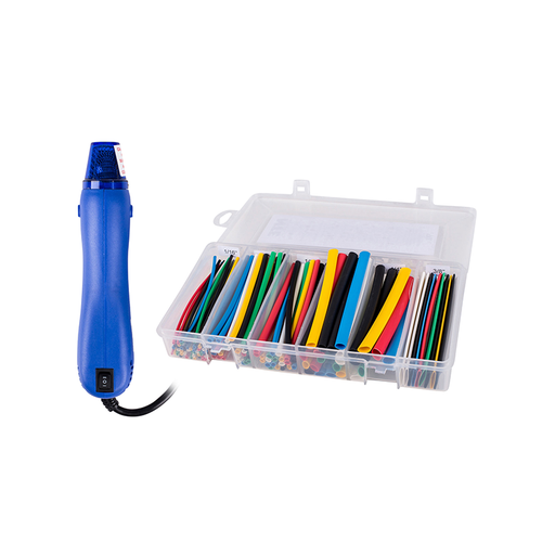 NTE HG-HS-9 Mini Heat Gun and Heat Shrink Assortment Kits