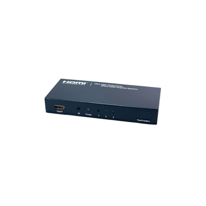 Bytecc HMSW301SM Ultra High Performance 3 Ports HDMI® Amplifier Switcher w/ Remote Control & Intelligent Switch