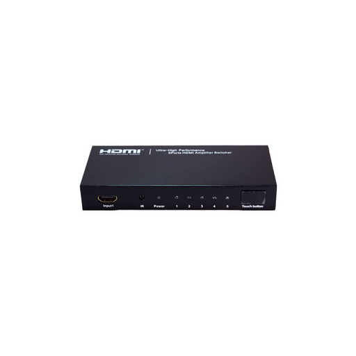 Bytecc HMSW501SM Ultra High Performance 5 Ports HDMI® Amplifier Switcher w/ Remote Control & Intelligent Switch