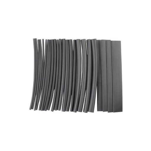 "NTE Electronics HS-ASST-1 Thin Wall Heat Shrink Tubing Kit Black Assorted Dia. 6"" Length 24 Pieces"
