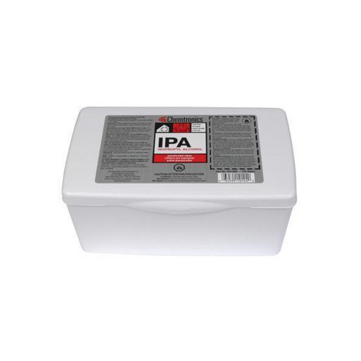 Chemtronics IPA100B Presaturated IPA Wipes, 100 Wipes