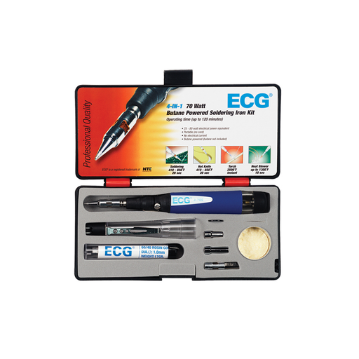 ECG J-700KT 30/70W Butane Solder Iron/Torch Kit